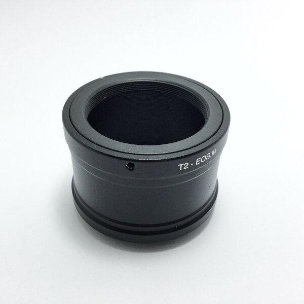 [享樂攝影]T-mountT接環T2接環望遠鏡轉接CanonEOSM轉接環無限遠可合焦EFMEOS-M送後蓋