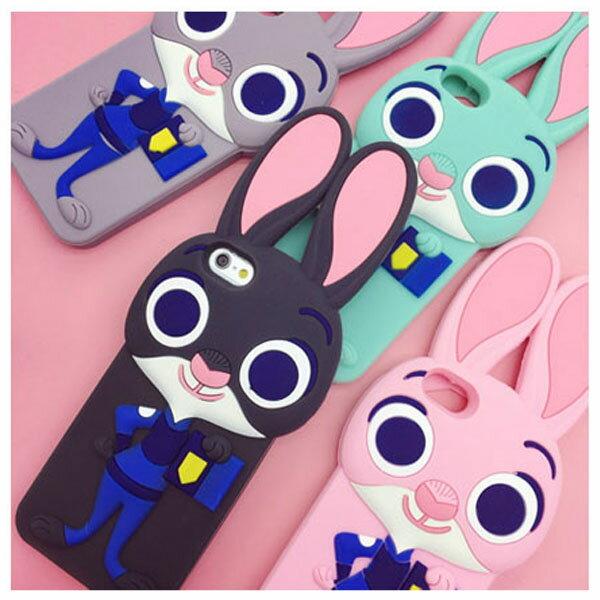 【限時下殺】動物方城市兔子造型卡通手機殼殼矽膠美味軟殼/iPhone 6/Plus i6/保護後蓋/手機殼