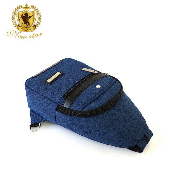 單肩背包 簡約防水拼接配皮前口袋斜胸包後背包包 NEW STAR BK243 6
