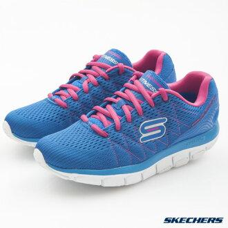 SKECHERS 女 慢跑健走鞋(藍*粉紅) 智慧生活系列 記憶型泡棉鞋墊