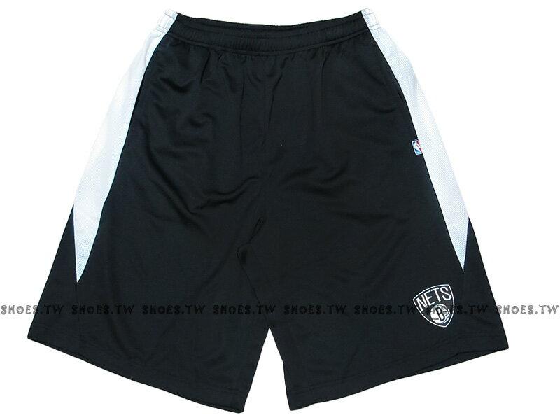 《限時5折》Shoestw【8730501-003】NBA 籃球褲 透氣排汗 熱身褲 有口袋 布魯克林 籃網隊 黑白