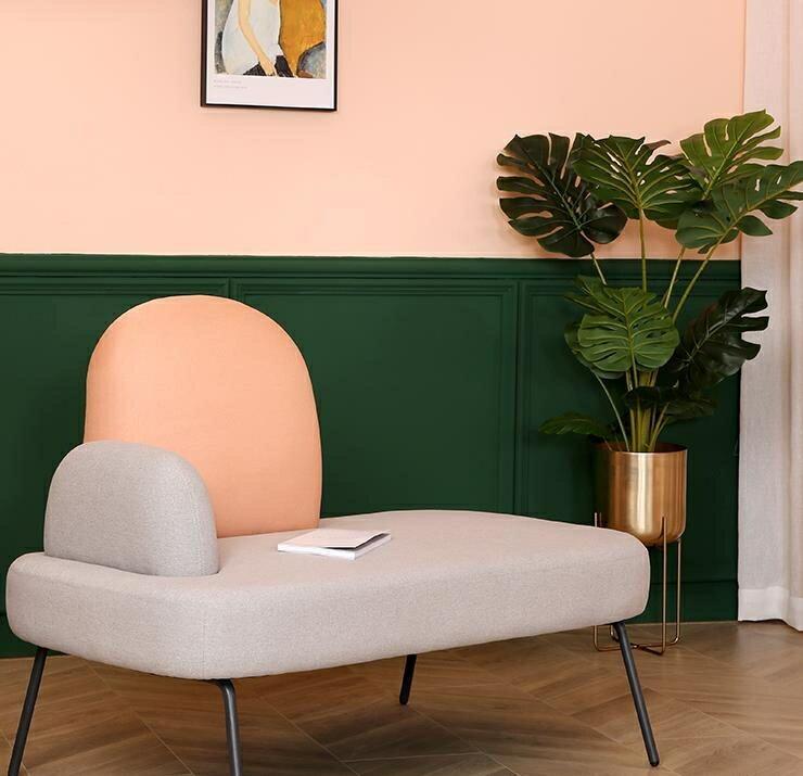 沙髮 北歐小戶型現代簡約布藝沙髮雙人公寓時尚酒店個性創意彩色ins風 家