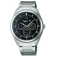 agnès b.眼鏡推薦到agnes b V14J-0CG0D(BT5009P1)太陽能巴黎時尚雙日曆腕錶/黑面40mm就在大高雄鐘錶城推薦agnès b.眼鏡