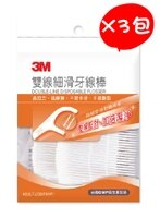 3M,3m牙線棒推薦到【3M】 雙線細滑牙線棒 42入/包X3包