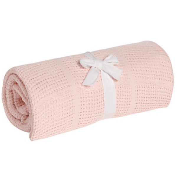 【淘氣寶寶】奇哥 mothercare 中大床棉毯/洞洞毯120*155cm-粉