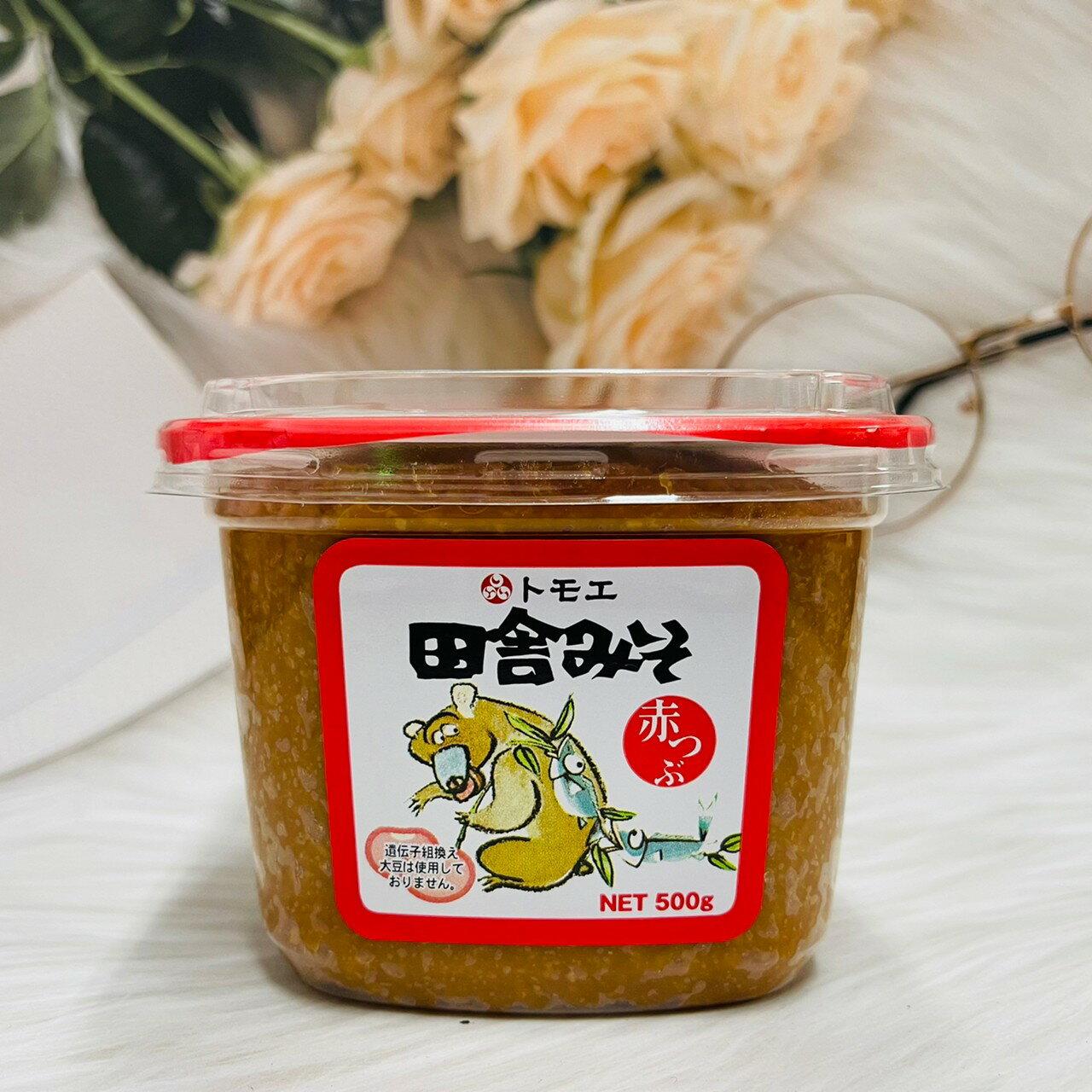 日本 田舍味噌 白味噌 赤味噌 柴魚味噌 500g   (綠-白味噌/橘-白粗味噌/紅-赤味噌/田舍柴魚味噌)