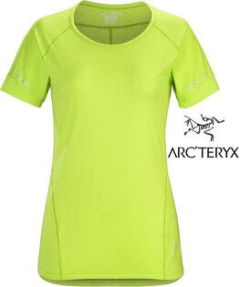 Arcteryx始祖鳥Motus快乾短袖圓領排汗衣排汗T恤18908女款榍石黃Titanite