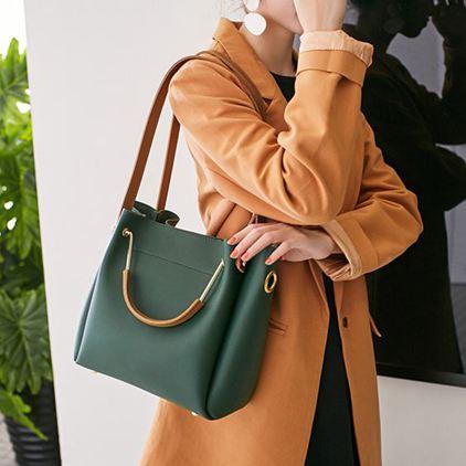 水桶包 包包女女包水桶包潮韓版簡約百搭斜背包手提包單肩包大包 唯伊時尚