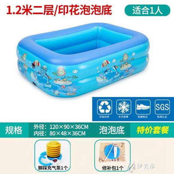 兒童充氣游泳池家庭家用超大號大型室內加厚嬰幼兒寶寶洗澡戲水池