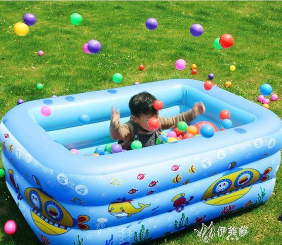 兒童充氣游泳池家庭大號戶外水池小孩室內加厚海洋球池寶寶游泳桶