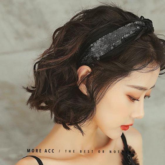 發箍女網紅韓國發捆簡約寬邊壓發卡發帶超仙百搭發飾外出韓式頭箍