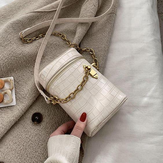 迷你小包包2020新款潮韓版水桶包斜挎包女百搭ins洋氣mini鏈條包