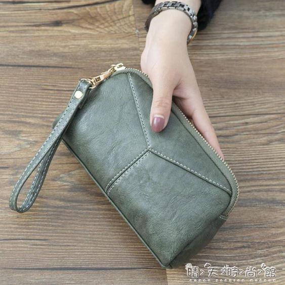 新款日韓長款女士女包簡約百搭手拿包簡約零錢手抓包手機包