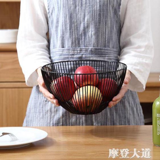 北歐風格水果盤創意客廳茶幾家用簡約現代鐵藝籃零食盤乾果盆『摩登大道』