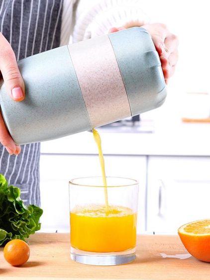 便攜式榨汁機簡易手動榨汁機橙子檸檬壓榨橙汁機榨汁器手動榨汁杯小型便攜式