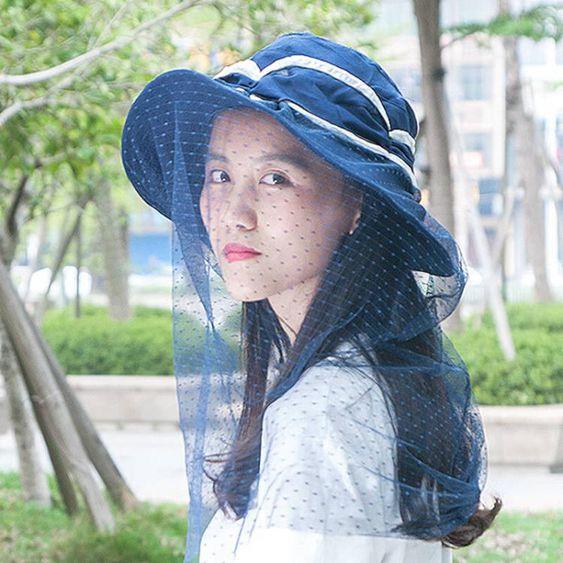 遮陽帽防紫外線太陽帽戶外防蚊帽天釣魚網紗帽遮臉帽女防曬面紗 極有家
