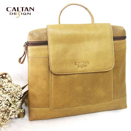 牛皮/女中性後背包-CALTAN - 真皮女用法式時尚掀蓋後背包 - 5310ht