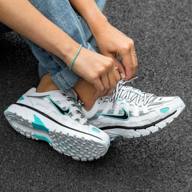 【日本海外代購】Nike P-6000 復古 黑藍白 藍白 厚底 增高 休閒 運動鞋 老爹鞋 慢跑 運動 女 BV1021-104
