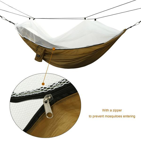 Oxford Mesh Waterproof Hanging Folding Garden hammock 1