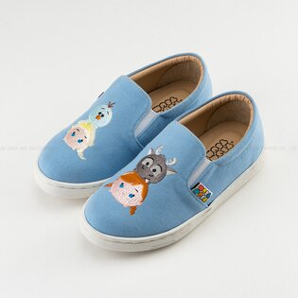 KAGOOD:DisneyTsumTsum迪士尼417005冰雪奇緣FROZEN艾沙女王休閒鞋便鞋帆船鞋童鞋