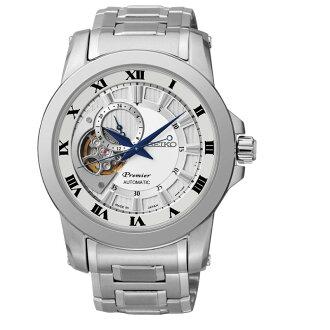 Seiko精工 Premier 4R39-00L0S(SSA213J1) 24小時盤羅馬鏤空機械腕錶/白面41.5mm