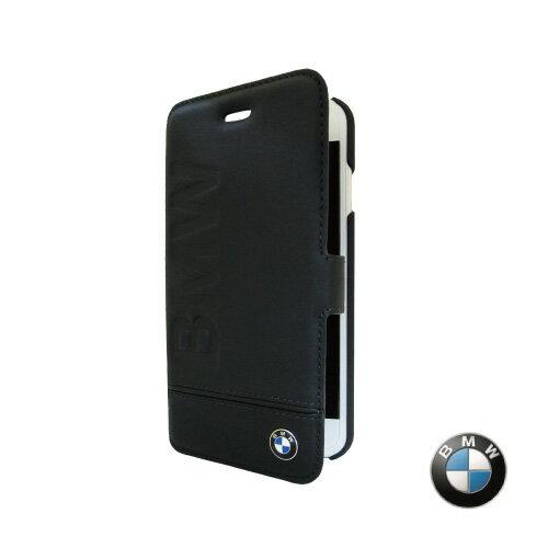 BMW iPhone 7 / 7 Plus 銘刻 側掀皮套 (黑色) 原廠授權 質感 側掀 保護 真皮 防撞