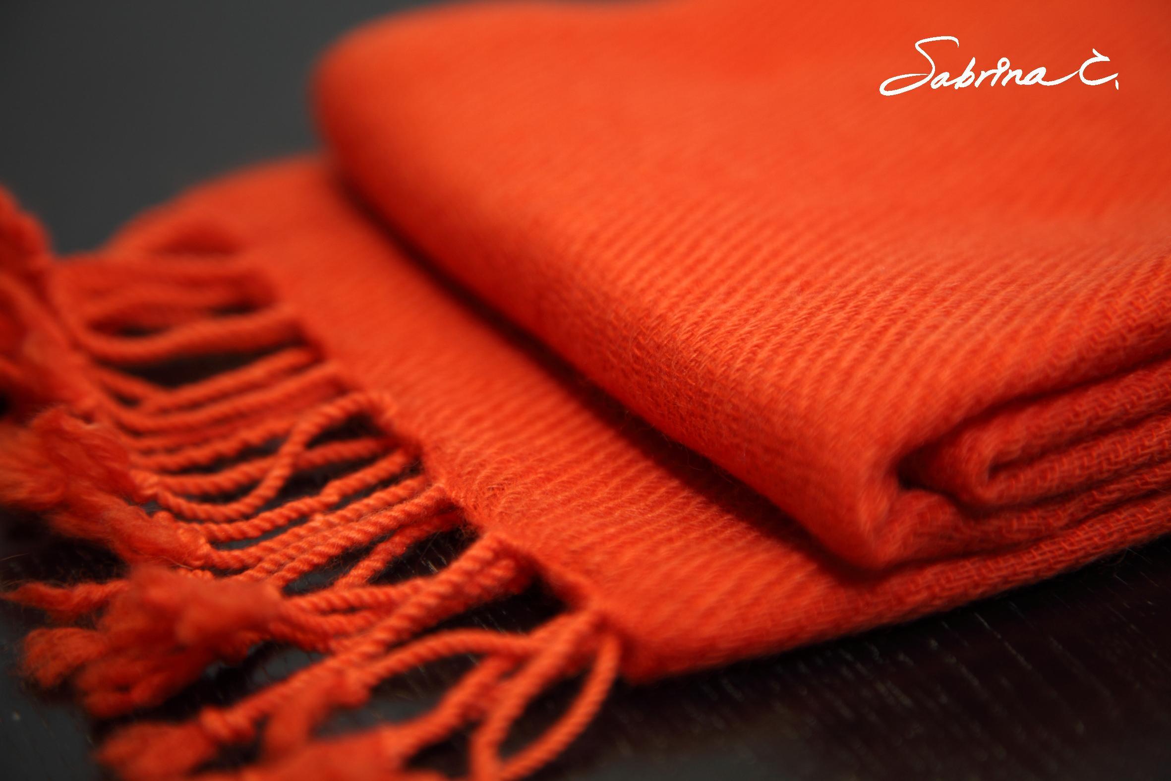 Cashmere迷你厚織圍巾(14047)