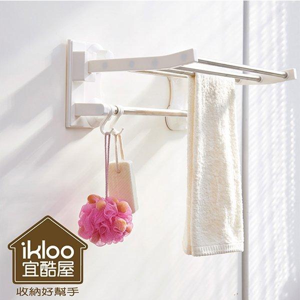 Loxin【BG0817】ikloo~不鏽鋼吸盤衛浴置物架 毛巾架 衣物掛架 浴室收納架 置物架 掛勾