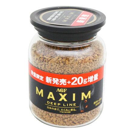 敵富朗超巿:【敵富朗超巿】AGF濃郁深煎咖啡-增量版MAXIM-DeepLine80g+20g有效日期:2020.04.04
