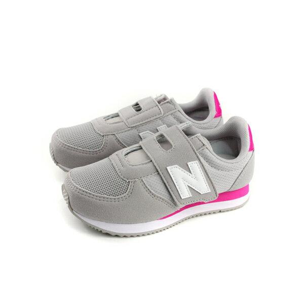 NewBalance休閒運動鞋魔鬼氈灰色童鞋KV220C4Y-Wno439
