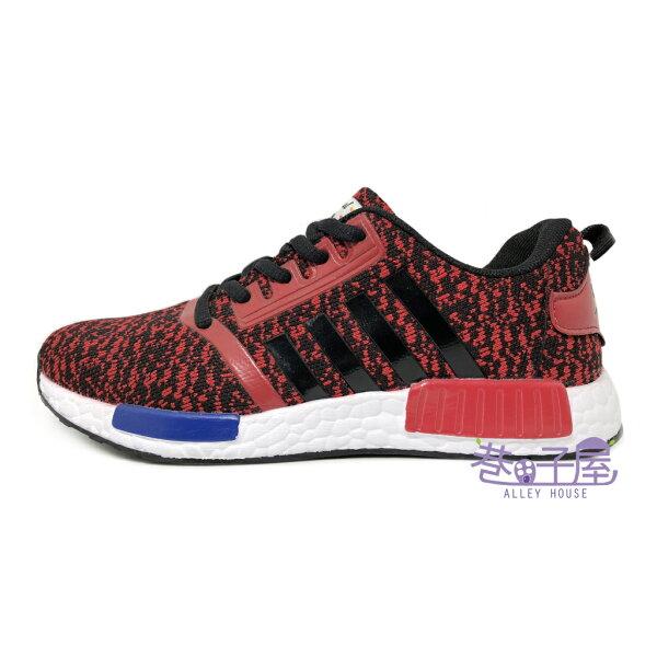 【巷子屋】JimmyPoLo女款造型編織運動慢跑鞋[68058]紅超值價$298
