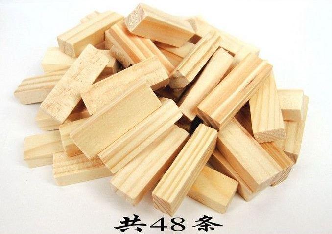 【省錢博士】兒童木製玩具-小號原木色疊疊樂積木 2