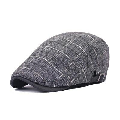 貝雷帽鴨舌帽-格子棉布復古英倫男女帽子3色73tv43【獨家進口】【米蘭精品】