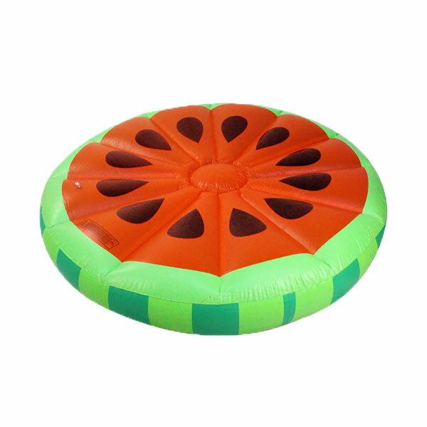 充氣西瓜浮排游泳圈 (送電動充氣) 【CSmart+】