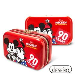 【加賀皮件】Deseno Disney 迪士尼 米奇系列 90週年 限量 紀念 手拿包 收納盥洗包 化妝包 航空硬殼包 201 甜蜜紅