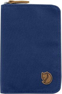 Fjallraven瑞典北極狐PassportWallet旅遊護照包復古拉鍊皮夾錢包24220527深藍