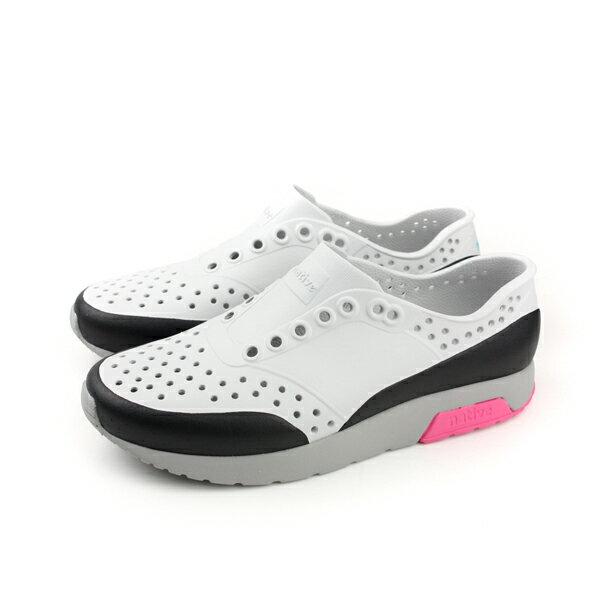 nativeLENNOXBLOCK洞洞鞋懶人鞋白黑男女鞋11105002-8511no740