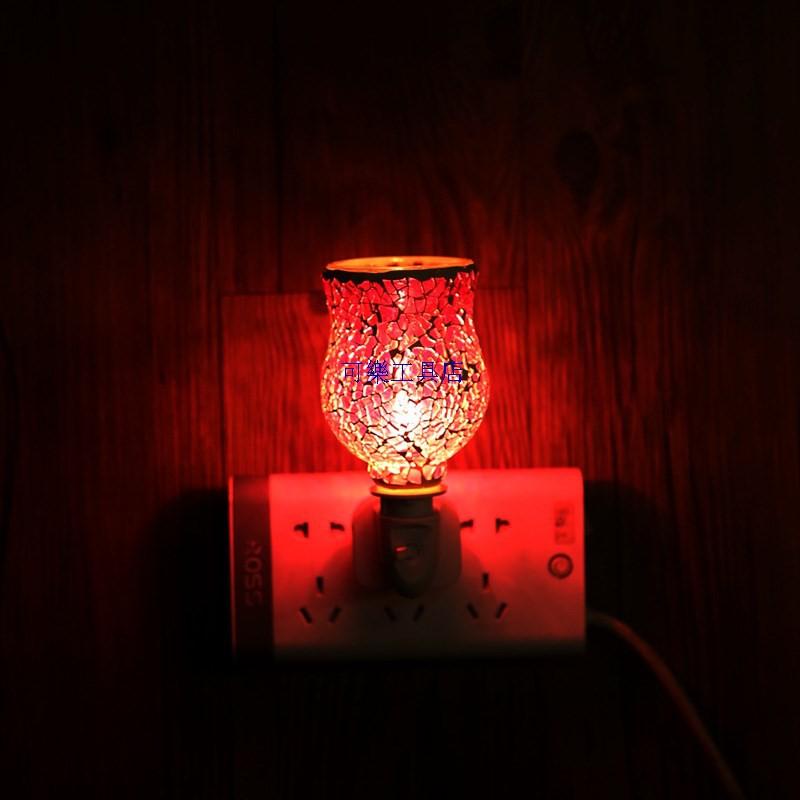 香氛燈 蠟燭燈 蠟燭檯燈 暖燭燈 溶蠟燈 廠家貨源馬賽克融蠟燈浪漫溫馨香薰燈創意去味香薰爐INS亞馬遜 清涼一夏钜惠