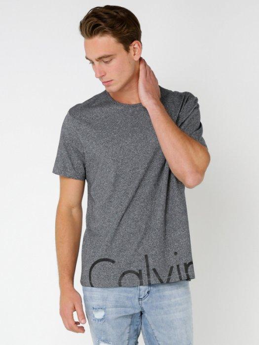 美國百分百【Calvin Klein】T恤 CK 短袖 T-shirt 短T 經典 logo 灰色 S-XL號 I052