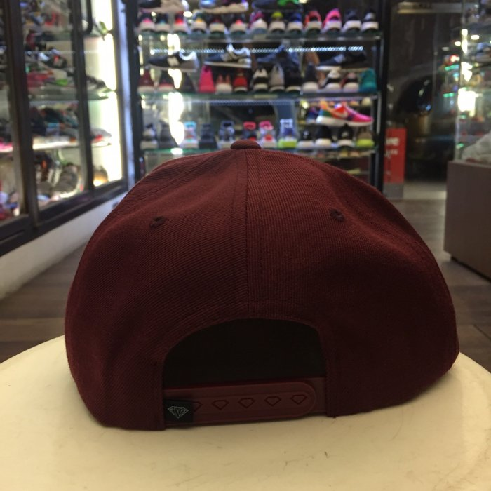 BEETLE PLUS 西門町 全新 DIAMOND SUPPLY CHAMPAGNE MAROON CAP 酒紅 帽 D14DHA18MRN DA-19 2