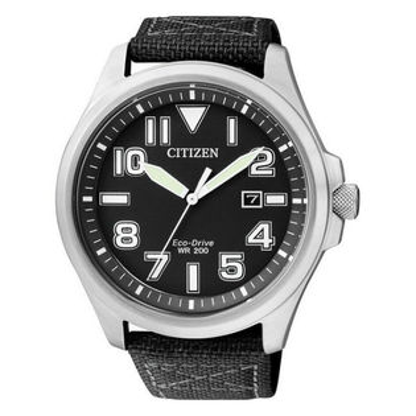 CITIZEN星辰AW1410-24E休閒簡約光動能腕錶黑面44mm