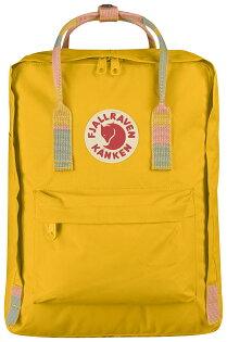 ├登山樂┤瑞典FjallravenKanken復古後背包方型書包-溫暖黃多彩色塊(提)#F23510-141905