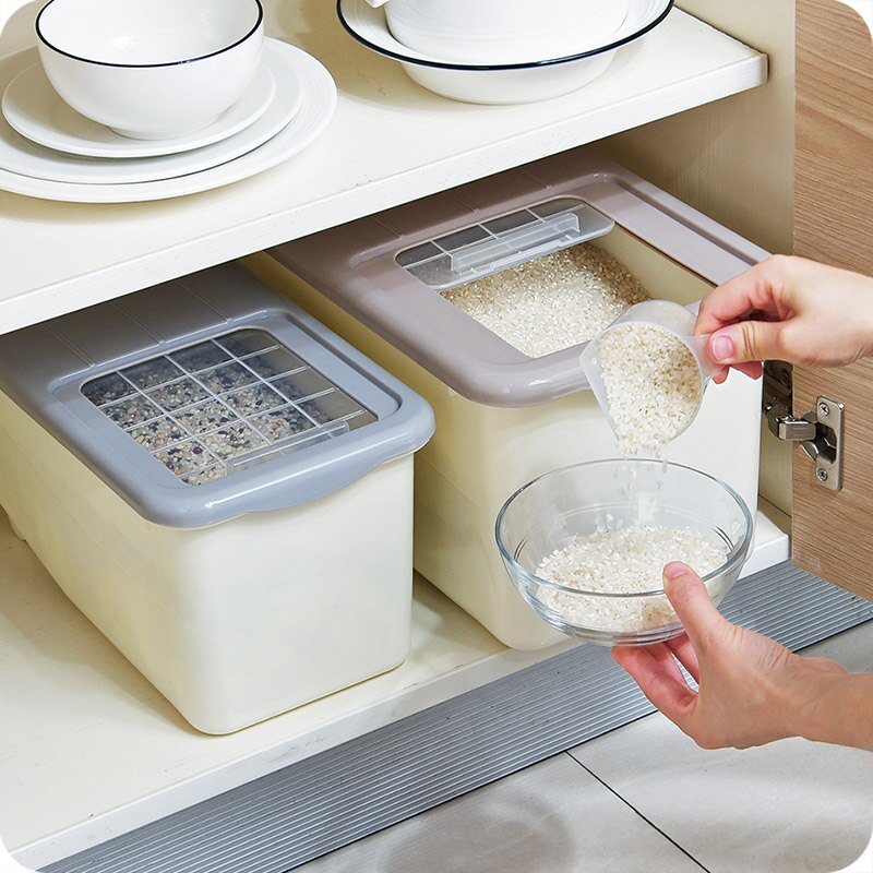 大號廚房密封米桶20斤裝面粉收納箱大米箱