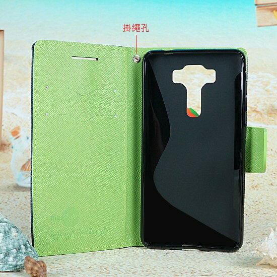 【雙色皮套】華碩 ASUS ZenFone 3 Deluxe ZS570KL 翻頁式側掀保護套/側開插卡手機套