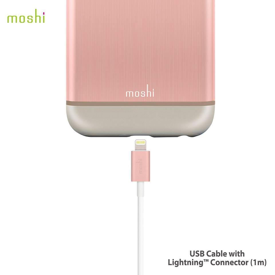 moshi MFi認證 超耐用 Lightning USB 一米 傳輸線 四款顏色 玫瑰金(兩年保固) 1