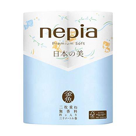 日本之美優質衛生紙4卷(金魚)-Nepia