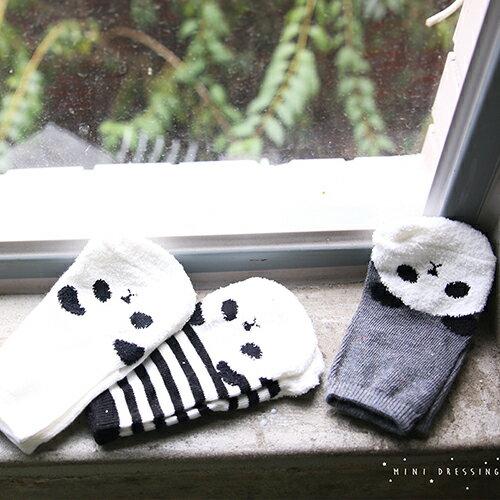 ~hella 媽咪寶貝~韓國 Mini Dressing 嬰幼兒  小童短襪三入組_可愛熊