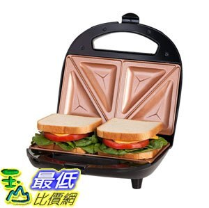 玉山最低比價網 [8美國直購] 不沾鍋 Gotham Steel Dual Electric Sandwich Maker and Panini Grill with Ultra Non...