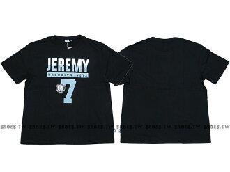 Shoestw【8730257-003】NBA T恤 棉 布魯克林 籃網隊 JERMY LIN 7號 點點號碼 黑色