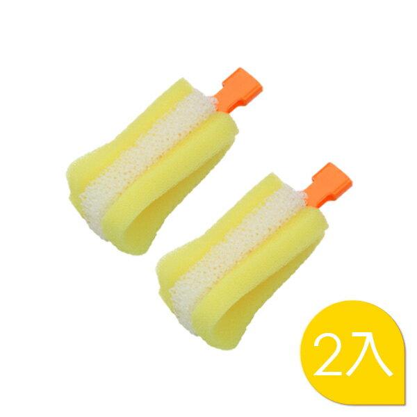 ~121婦嬰用品館~黃色小鴨 式旋轉泡棉奶瓶刷 替換刷頭^(2入^)